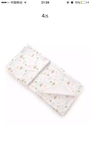 拉比(Labi Baby) 婴儿浴巾儿童纱布浴巾 动物世界浴巾100*100 白色 晒单图