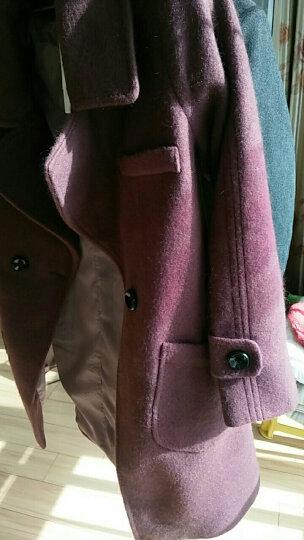 麦芭禾 格子毛呢大衣女2018秋冬装女新款时尚韩版学生毛呢外套女中长款呢子外套冬 红色格子 XL 晒单图