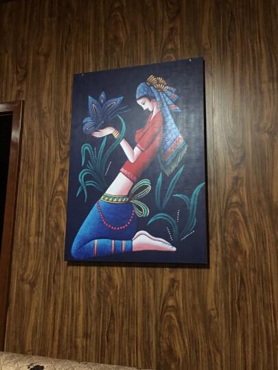 森閣纳米冰晶玻璃画客厅装饰画欧式壁画艺术人物抽象画无框画少数民族少女沙发背景挂画卧室水晶膜 A-10 70*100*1-25mm水晶膜 晒单图