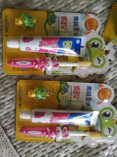 青蛙王子 宝宝儿童水晶牙膏 牙刷 儿童牙膏牙刷套装 防蛀健齿 清晰口腔 牙刷颜色随机发货 双效护齿牙刷320 晒单图