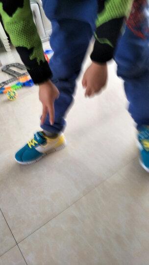鸿星尔克(ERKE)童鞋男女童大童撞色轻便跑鞋休闲鞋儿童运动鞋25-37魔术贴飞机鞋 圣诞红/亮银 30 晒单图