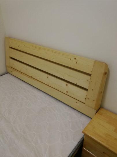 雅霏-床实木床 单人床  双人床  学生床 成人床 宿舍床学生床 清新白色+蓝色 加长款1.8米*2米06 晒单图