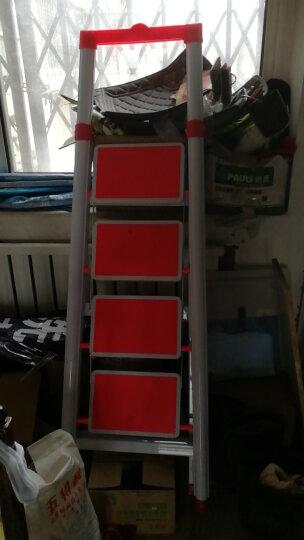 密林 家用梯 梯子 梯 四步梯 折叠梯带置物架多功能防滑安全梯ML_TD04 晒单图