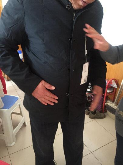 罗蒙羽绒服男2018秋冬季中青年男士商务休闲立领常规款冬装羽绒服防寒外套上衣 HF14808灰色 190/3XL 晒单图