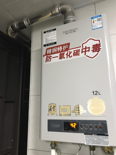 史密斯(A.O.Smith) 12升 主动防护系统 智能恒温精控 燃气热水器 (天然气) JSQ24-D6 晒单图