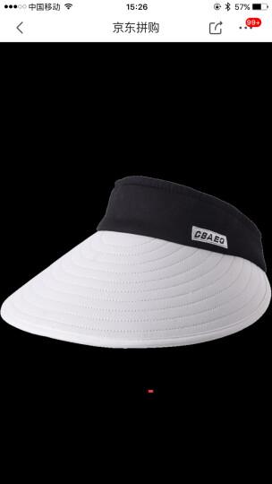 八艾 空顶帽子女夏天韩版遮阳帽女防晒帽子防紫外线户外出游百搭太阳帽 空顶藏青色 晒单图
