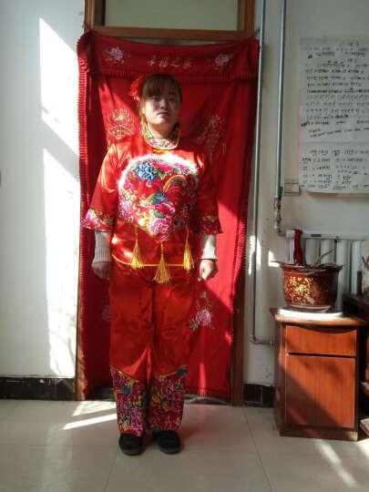 2018年民族舞秧歌服腰鼓舞服装扇子舞民族舞蹈演出服 女mlf 绿色开门秧歌 XL 晒单图
