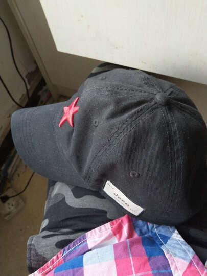 JEEP 吉普帽子 红色经典五角星 男女遮阳帽户外运动休闲帽棒球帽纯棉百搭帽子JP18046 黑色 可调节 晒单图