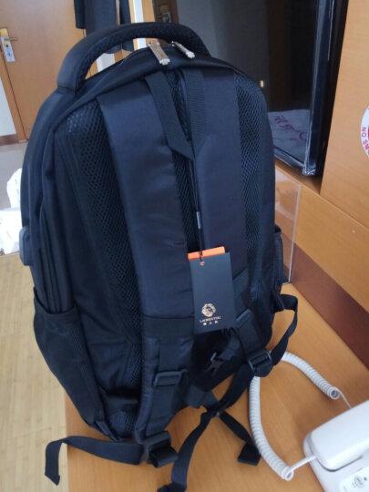 老人头(LAORENTOU)双肩包14英寸笔记本男女学生书包休闲运动大容量旅行背包 840J001L1A 黑色小号 晒单图