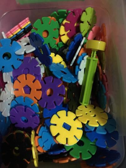 美阳阳 加厚雪花片12色收纳盒装塑料积木拼插拼装宝宝儿童益智玩具 中号 3cm 1200片 收纳盒装 晒单图