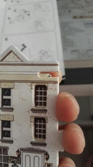 若态 儿童积木玩具 立体木质拼图 拼装模型 手工拼插积木英国酒吧小屋F133 晒单图