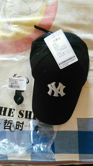 哲时 情侣棒球帽子男女士嘻哈鸭舌帽街舞户外运动防晒太阳遮阳帽MZ1191 黑色 可调节55-60CM头围 晒单图
