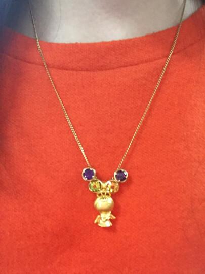 【重复】ENZO珠宝 生辰石系列 彩色宝石吊坠女款18K金镶嵌托帕石/橄榄石/紫水晶/黄水晶 二月生辰石紫水晶吊坠(不含链) 晒单图
