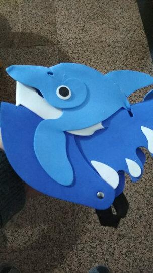 泡沫卡通动物头饰生肖海洋动物头套幼儿园学校教学表演道具派对帽 鲨鱼 晒单图