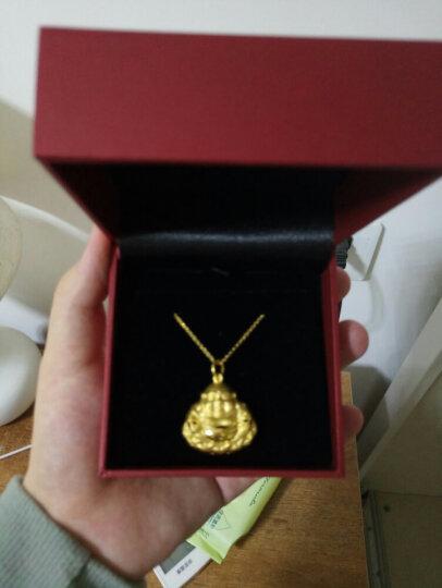 周大福 简约 足金黄金项链(工费:68计价) F159797 足金 40cm 约3.40g 晒单图