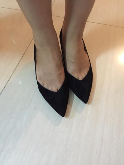 STACCATO/思加图秋季新款细中跟浅口女单鞋尖头女鞋9UK13CQ6 深红 35 晒单图