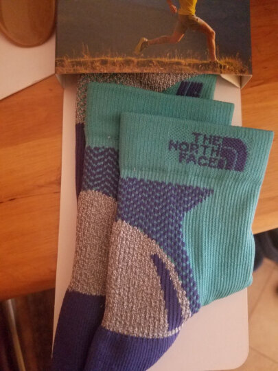 TheNorthFace北面春季新品舒适透气户外徒步情侣款运动袜|2SKU YQC/蓝色/紫色/灰色 L 晒单图