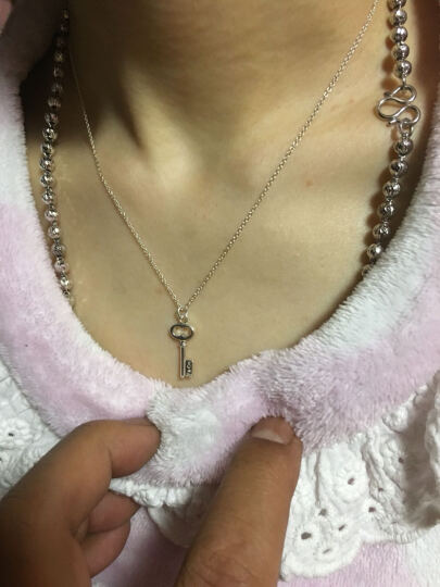 Tiffany & Co 蒂芙尼 TIFFANY KEYS系列时尚钥匙银饰吊坠项链 链长38cm 35483845 晒单图