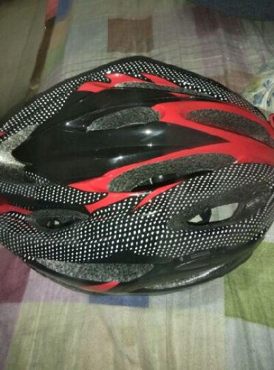跑狼 骑行头盔 常规版自行车头盔山地车头盔一体成型 男女款 骑行装备 自行车 红色 晒单图