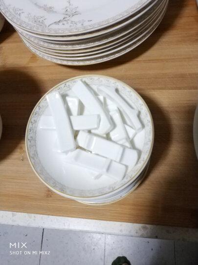御晟景德镇陶瓷器骨瓷餐具套装56头碗碟套装碗具碗盘碟勺子碗筷家用 28头标准配九斗-太阳岛 晒单图