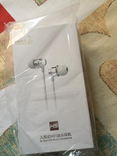 蛇圣(Holy serpent) H5耳机入耳式重低音手机魔音耳塞电脑小米华为苹果通用型线控带麦K歌 亮黑色音乐版-不带麦 晒单图