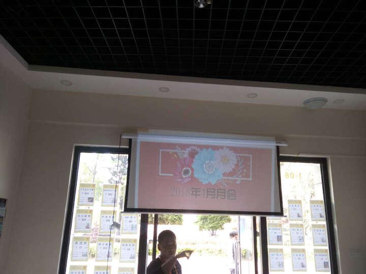炫铭 100英寸4:3电动幕布投影仪自动升降可选配带遥控高清3D/4K投影机幕布 120英寸4:3 遥控操作(无线遥控器) 晒单图