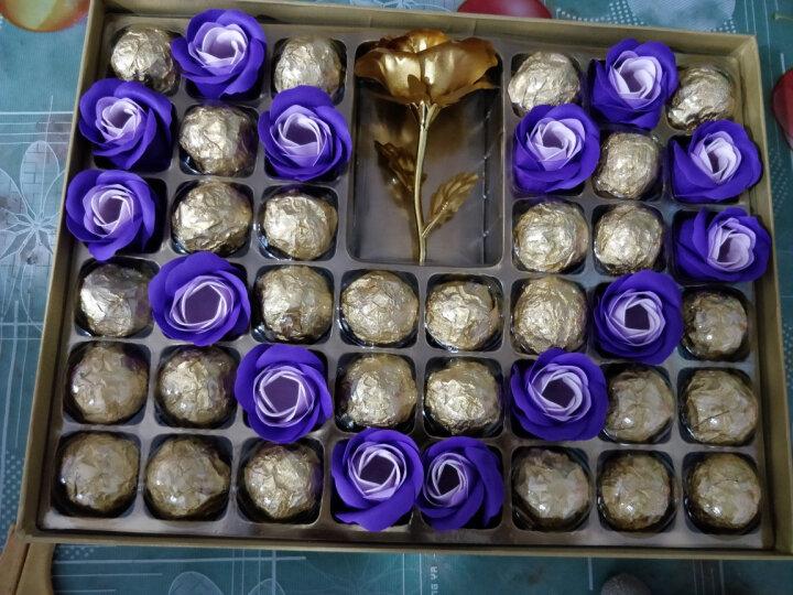 SOLOVE 糖果巧克力礼盒装 心形diy创意七夕情人节礼物送女友生日520节日礼盒 金生金世 晒单图