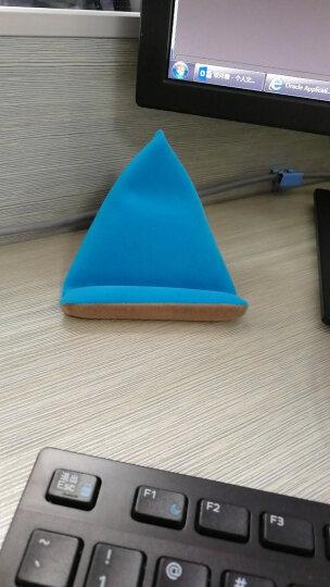 莫凡(Mofi)手机支架 创意懒人配件床头桌面座看电视平板pad支架通用手机绒布支架 湖蓝色 晒单图
