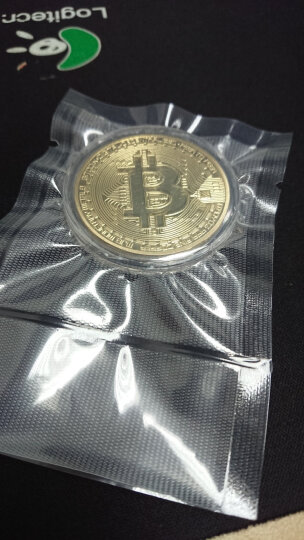 永瑞轩 外国纪念章 美国比特币纪念章 BitCoin外国纪念硬币 礼品挂件 镀银单枚  配小圆盒 晒单图