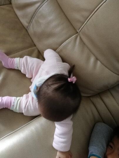雅蝶娜 韩国儿童发绳公主可爱发饰女童头绳扎头发橡皮筋头饰女宝宝小发圈 蓝色一对装 晒单图