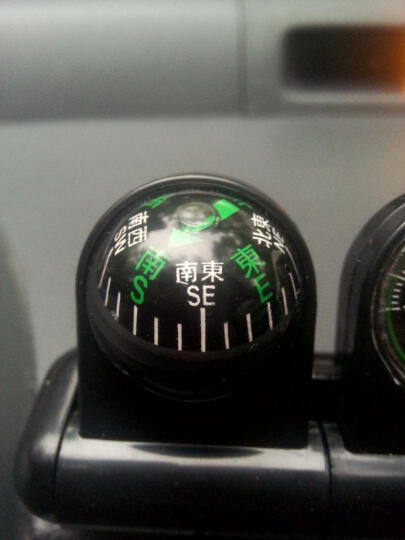 爵宁  汽车指南针车载温度计摆件 车用改装多功能通用型车载指南球温度计汽车内饰摆件装饰品 车载指南针温度计二合一摆件--黑色 启辰T90/R30晨风D50/R50/R50X 晒单图