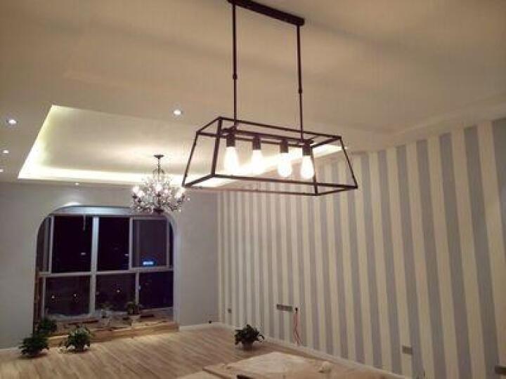 铭灯世家 北欧美式乡村复古工业风吊灯RH Loft创意吧台咖啡厅餐厅玻璃箱铁艺吊灯 带龙珠泡 晒单图