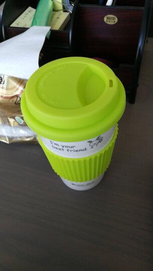 瓷魂 创意陶瓷情侣咖啡马克杯带盖随手水杯子 黄色猴子 晒单图