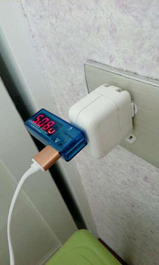 TaoTimeClub USB充电电流/电压测试仪 检测器 USB电压表 电流表USB模块 蓝色弯式款 晒单图