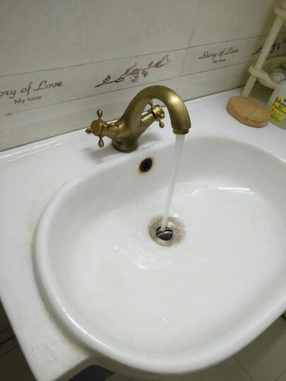 贝尔格兰卫浴 全铜复古浴室柜水龙头 仿古欧式冷热台下面盆龙头 晒单图