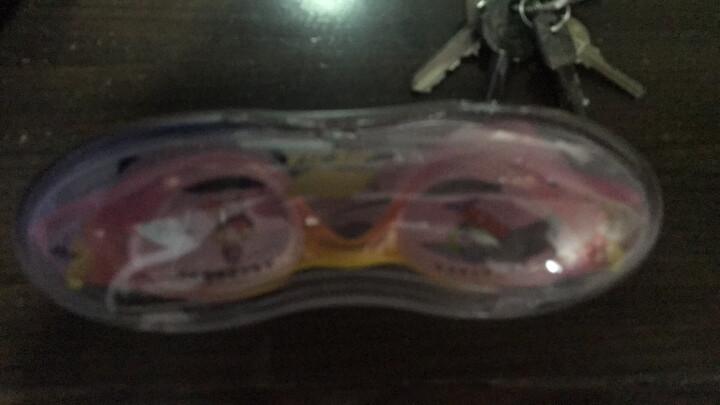 捷佳 JIEJIA 游泳套装儿童高清平光游泳眼镜泳帽耳塞鼻夹四件套女童套装 晒单图