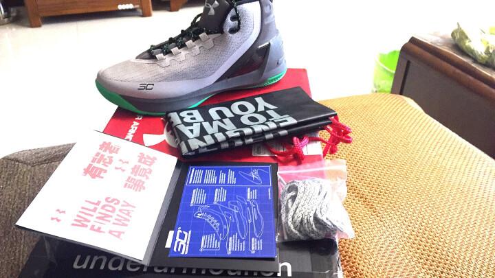 Under Armour 安德玛官方 UA男子 Curry3 库里高帮篮球鞋-1269279 黑色004 44 晒单图