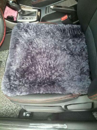 乔帮主 纯羊毛汽车坐垫 冬季短毛绒座垫单片方垫三件套沙发通用澳洲进口皮毛一体 YMD-34经典黑-后排长片 晒单图
