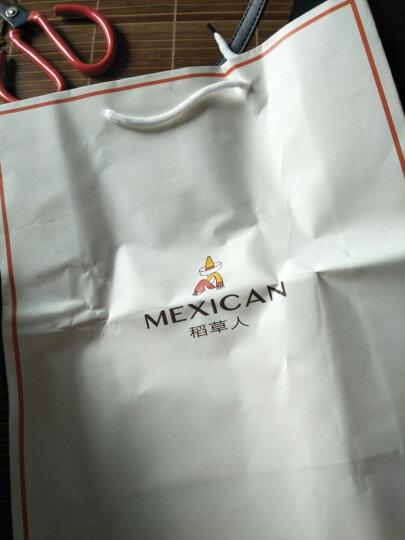 稻草人(MEXICAN)女包新款单肩小包女手提斜挎包女士简约休闲小方包 白色 晒单图