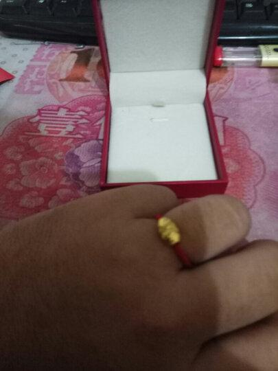 兆禧 999足金编织红绳男女款情侣转运珠黄金戒指 指环 黄金首饰品 本命年 约0.82克 晒单图