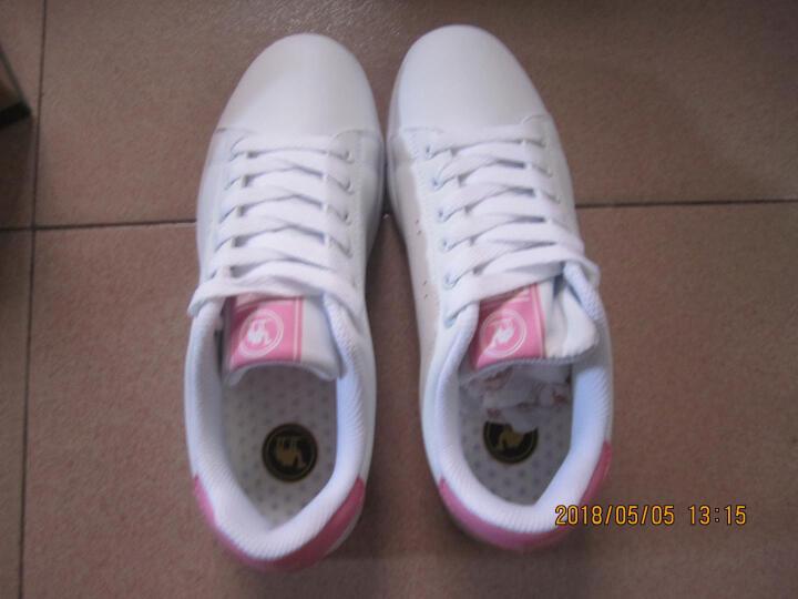 骆驼牌 板鞋运动休闲鞋平底小白鞋女单鞋 W71360502 白/梅红 37/235码 晒单图
