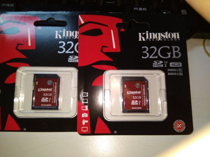 金士顿(Kingston)32GB 90MB/s SD Class10 UHS-I高速存储卡 中国红 晒单图