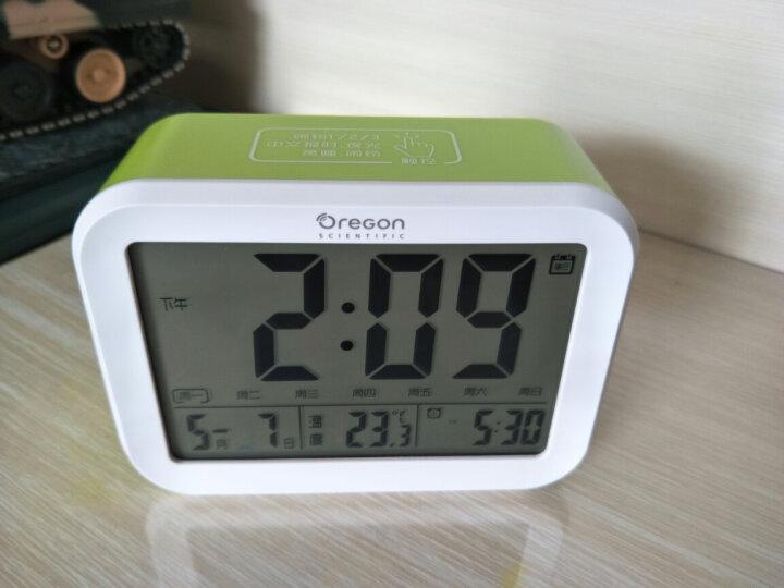 欧西亚闹钟 静音夜光智能小闹钟语音报时温度显示床头钟儿童学生电子闹钟 电池款蓝色 晒单图