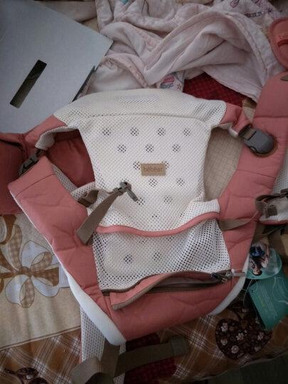 抱抱熊(bébéar)婴儿背带 多功能宝宝背婴带 背带腰凳二合一可拆卸两用 透气款G01胭脂粉 晒单图