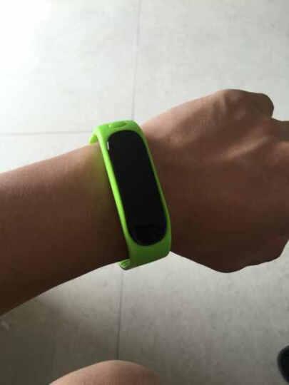 开心兔 智能运动手环蓝牙手表防水睡眠监测手机计步器 适用于苹果iPhone/小米/三星安卓 E02智能手环--绿色 晒单图