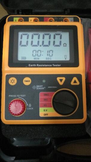 希玛 接地电阻测试仪摇表数字防雷测试高精测量仪 AR4105A量程0.001-200欧姆 晒单图