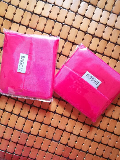 可折叠式宽口环保购物袋 无纺布袋子 手提袋购物袋 可折叠 大红色 晒单图