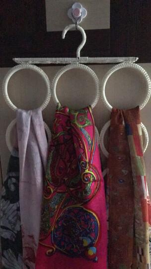 名创优品(MINISO) 多用置物架防滑15格  衣架丝巾架领带架 米色 晒单图