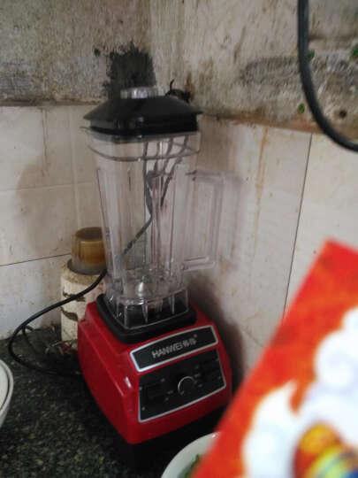韩伟(HANWEI)M300 沙冰机商用 多功能破壁料理机 榨汁机搅拌机刨冰机碎冰沙机家用 红色 晒单图