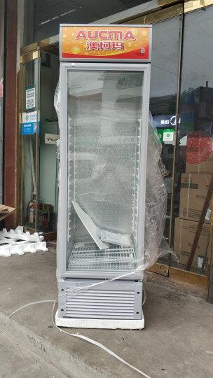 澳柯玛(AUCMA) SC-237(NE) 超市饮料柜 4层搁架 立式单门商用玻璃展示柜 晒单图